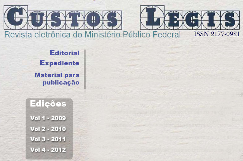 Revista Custos Legis